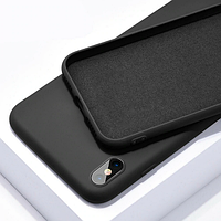 Чехол Silicone Case Full для iPhone XS Max Black