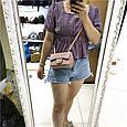 Сумка реплика мини клатч Шане ль 17см / натуральная кожа (953) Бежевый, фото 10
