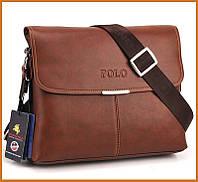 Кожаная мужская сумка Polo