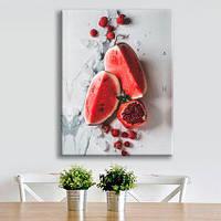Картина на холсте Арбуз подарок для кухни дома размер 50см на 65см