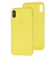 Чехол Silicone Case Full для iPhone XS Max Yellow