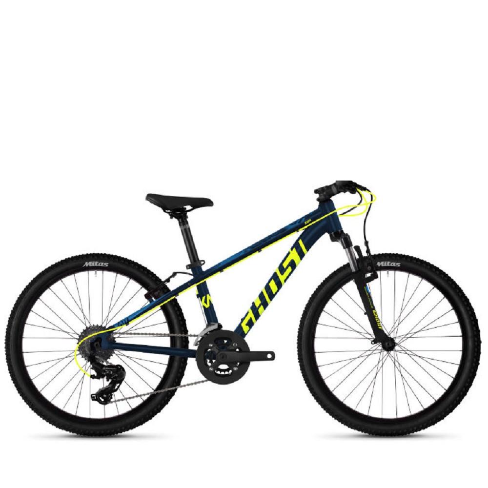 "Велосипед Ghost Kato 2.4 24"", сине-желтый, 2020"
