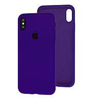 Чехол Silicone Case Full для iPhone XS Max Ultra Violet