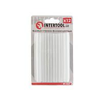 Комплект флуоресцентних клейових стрижнів 11.2 мм*100мм, 12 шт INTERTOOL RT-1037