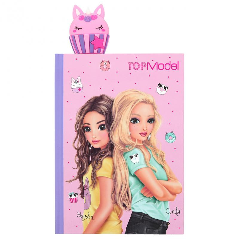 Щоденник для дівчаток TOP Model CANDY CAKE ( Дневник для девочек с закладкойТоп Модель Тортик)