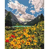 """Картина по номерам на холсте 40*50 см """"Величественные Альпы"""" Идейка КНО2268"""