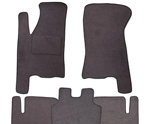 Ворсовые коврики для Seat Ibiza (2002-2008) Текстильные в салон авто (серые) (StingrayUA.)