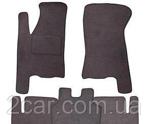 Ворсовые коврики для ZAZ VIDA Текстильные в салон авто (серые) (StingrayUA.)