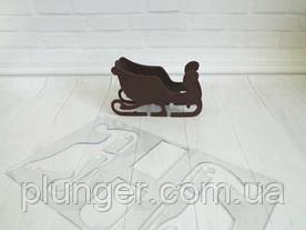 Трафарет кондитерський для шоколаду Санки