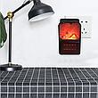 Портативний обігрівач імітація каміна тепловентилятор дуйка Flame Heater 1000 Вт з пультом, фото 4