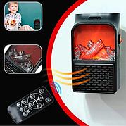 Портативний обігрівач імітація каміна тепловентилятор дуйка Flame Heater 1000 Вт з пультом
