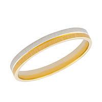 Золотое комбинированное обручальное кольцо