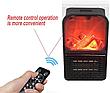 Портативний обігрівач імітація каміна тепловентилятор дуйка Flame Heater 1000 Вт з пультом, фото 6
