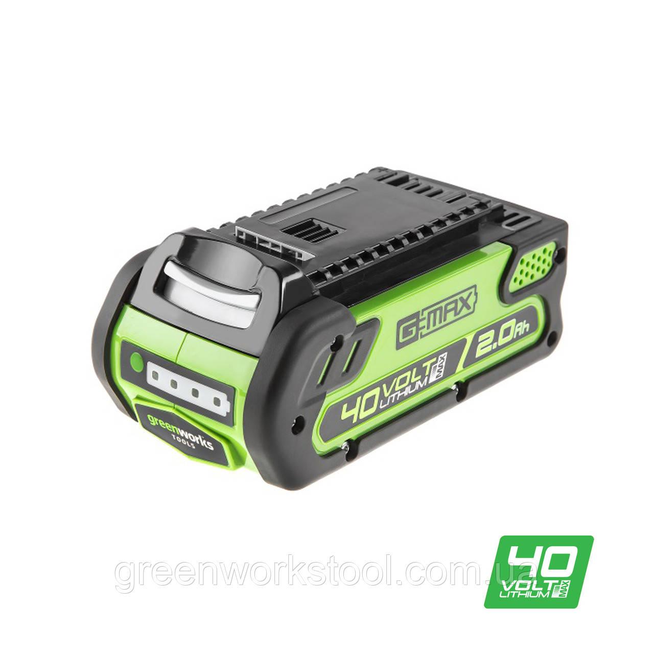 Аккумулятор Poulan Pro / Greenworks G40B2 (2 Ah) без ЗП