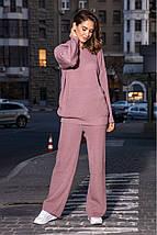 Женский вязаный костюм Ева свободного кроя с капюшоном PR-27380, фото 3