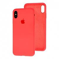 Чехол Silicone Case Full для iPhone XS Max Coral