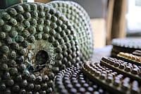 ГАББРО и БАЗАЛЬТ. Шлифовальные алмазные КРУГИ (ёрш, ёршики, пупырышки) СЭЛТИНГ® диаметром 250мм