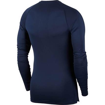 Термобілизна чоловіча Nike Pro Tight-Fit Longsleeve Top BV5588-452 Темно-синій, фото 2