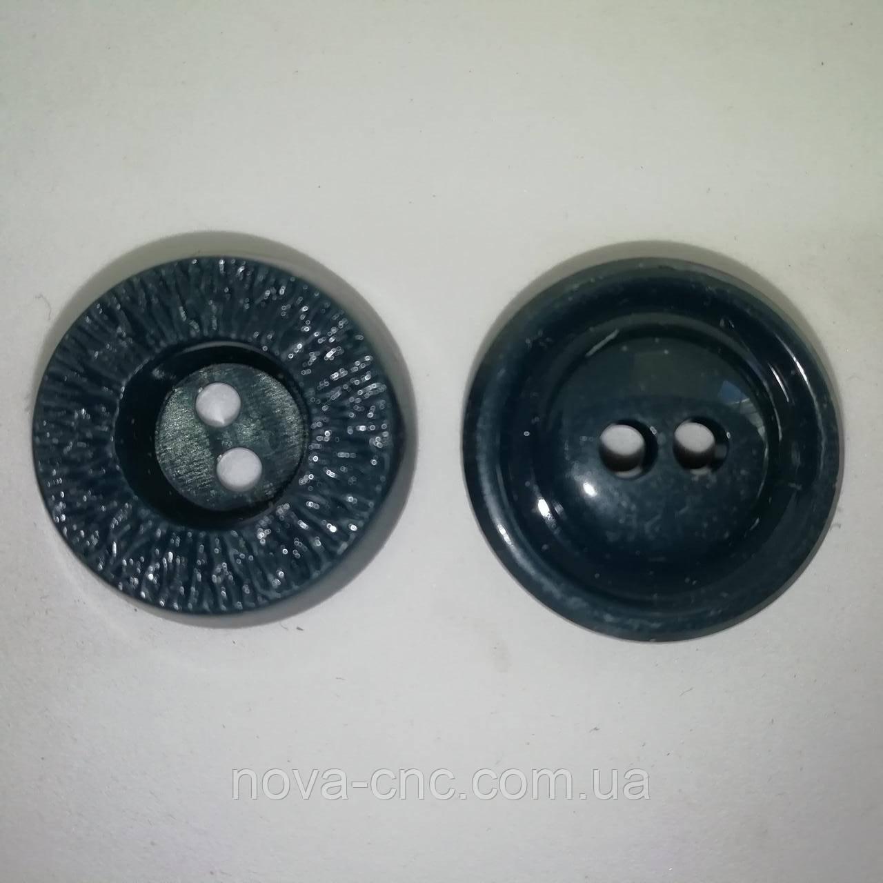 Ґудзики пластмасові 22 мм Колір темна бірюза Упаковка 550 штук