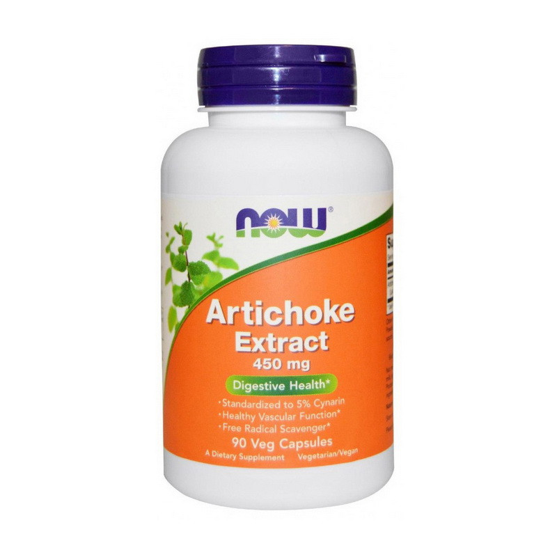 Экстракт Артишока Now Foods Artichoke extract 450 mg 90 вег капсул