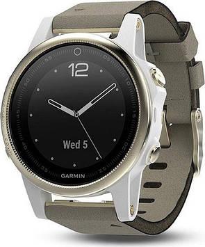 Смарт-часы Garmin Fenix 5s Champagne Sapphire with Gray Suede Band (010-01685-12)