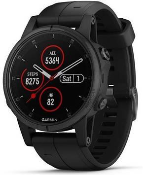Смарт-часы Garmin Fenix 5S Plus Sapphire Черный with Черный Band (010-01987-03)