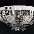 Люстра стельова торт LED SS-1102/500 CR на 8 лампочок в хромі, фото 2