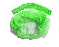 Шапочка одноразовая клип-берет гармошка Sangig (100 шт в уп) Зеленый