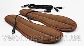 Стельки велюровые с подогревом от внешнего аккумулятора, USB - кабель, размер 43-44