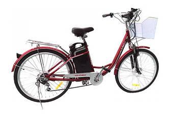 """Электровелосипед KelbBike 26"""" 250W+PAS Красный"""