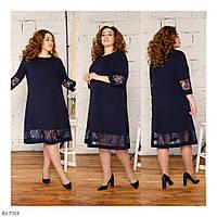 Стильное платье    (размеры 52-58) 0256-23