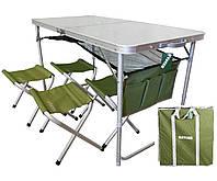 Комплект мебели складной туристический для отдыха на природе Ranger Стол 120х60 и 4 стульчика с чехлом