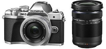 Фотоаппарат Olympus OM-D E-M10 Mark II kit (14-42mm + 40-150mm) Silver
