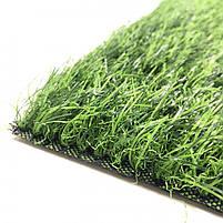 Штучна трава 35 мм ширина 4 м ecoGrass SD-35 (исуственный газон в рулонах), фото 3