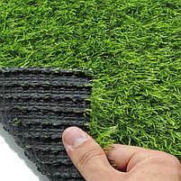 Штучна трава 35 мм ширина 4 м ecoGrass SD-35 (исуственный газон в рулонах), фото 4
