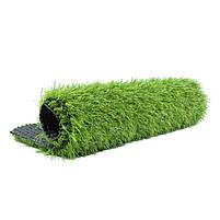 Штучна трава 35 мм ширина 4 м ecoGrass SD-35 (исуственный газон в рулонах), фото 8