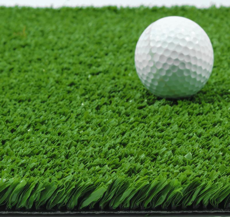 Зеленая искусственная трава для тенниса 18 мм ширина 2 м CCGrass YEII 15 (исуственный газон в рулонах)