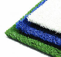 Зеленая искусственная трава для тенниса 18 мм ширина 2 м CCGrass YEII 15 (исуственный газон в рулонах), фото 3