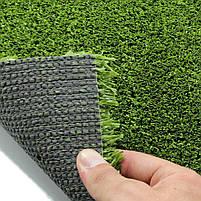 Зеленая искусственная трава для тенниса 18 мм ширина 2 м CCGrass YEII 15 (исуственный газон в рулонах), фото 4