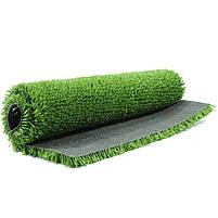 Зеленая искусственная трава для тенниса 18 мм ширина 2 м CCGrass YEII 15 (исуственный газон в рулонах), фото 5
