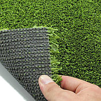 Зелена штучна трава для тенісу 18 мм ширина 4 м CCGrass YEII 15 (исуственный газон в рулонах), фото 4