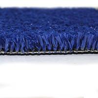 Синя штучна трава для тенісу 18 мм ширина 4 м CCGrass YEII 15 (исуственный газон в рулонах), фото 6