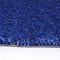 Синя штучна трава для тенісу 18 мм ширина 4 м CCGrass YEII 15 (исуственный газон в рулонах), фото 7
