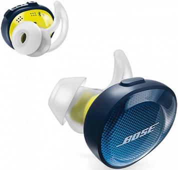 Беспроводные наушники BOSE SoundSport Free Wireless Midnight blue/Citron 774373-0020