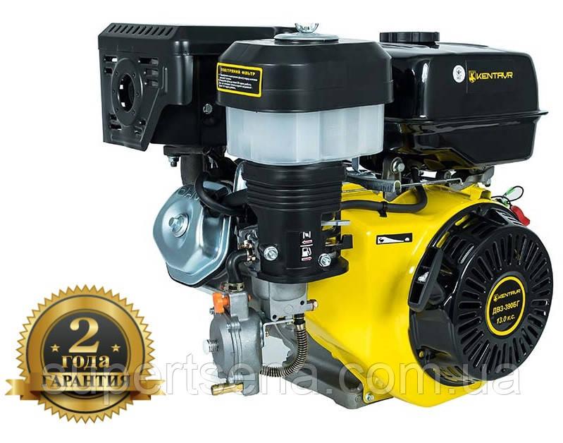 Двигатель газ/бензин ДВЗ-390БГ +БЕСПЛАТНАЯ ДОСТАВКА! КЕНТАВР (13 л.с.; вал 25,4 мм; 389 куб.см), шпоночный