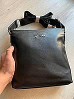 Сумка мужская черная стильная качественная вместительная мессенджер Gucci, фото 1