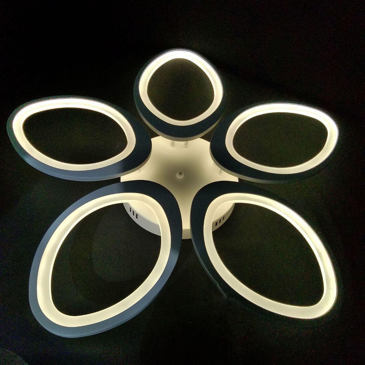 Люстра LED потолочная HJT-8021/5 WH 160W