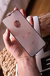 Защитное стекло + защитная сетка на динамик для iPhone X/XS/11 Pro Black