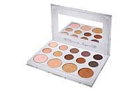 Carli Bybel палетка теней и хайлайтеров 10 Color Eyeshadow & 4 Color Highlighter Palette BH Cosmetics.Оригинал