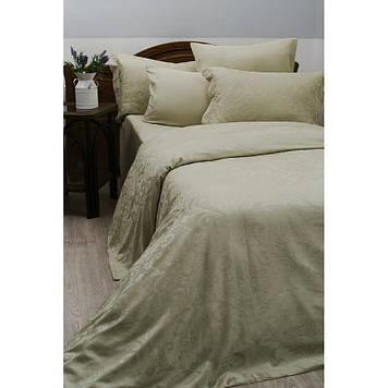 Комплект постельного белья  Deco Bianca сатин жаккард jk16-04 kus yesili евро